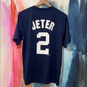 Majestic NYY Derek Jeter #2 E Systems Shirt.